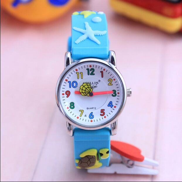 New Children Silicone Watch Brand Quartz Wrist Watch Baby For Girls Boys Waterproof Kid Watches DinosaurFashion Casual Reloj
