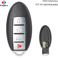 KEYECU Smart Keyless Entry Remote Key 4 Buttons & 315MHz & ID46 Chip FOB for Infiniti FX35 FX37 FX50 G25 G35 G37 KR55WK48903