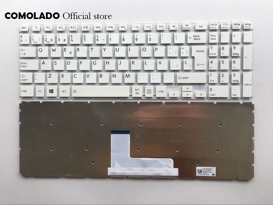 SP Spanish keyboard For Toshiba Satellite L50-B S50-B L50D-B L50T-B L50DT-B L55(D)-B S55-B S55T-B S55D-B white keyboard SP Layout