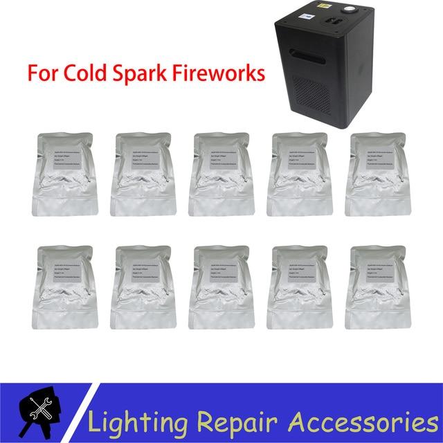 10 أكياس/الكثير تي مسحوق 200 جرام/الحقيبة في الهواء الطلق الباردة شرارة سباركلر معدن التيتانيوم لالباردة لهب المرحلة تأثير الألعاب النارية آلة مسحوق