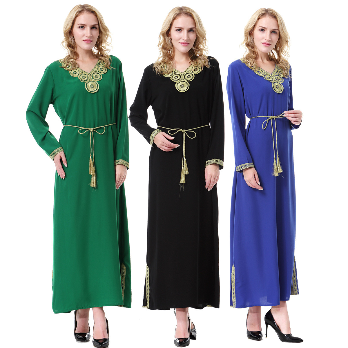 Caftan Jilbabs And Adult Linen Abayas Limited Real None Muslim Women Dress Pictures 2018 Arabia Middle East Malaysia Robe Abaya