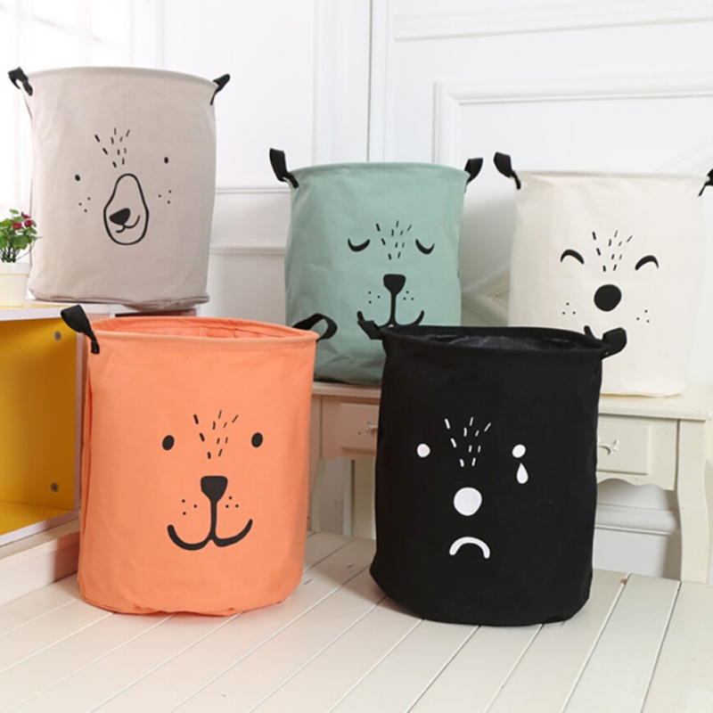 New Large Laundry Hamper Bag Cartoon lovely Clothes Storage Baskets Home clothes barrel  ...