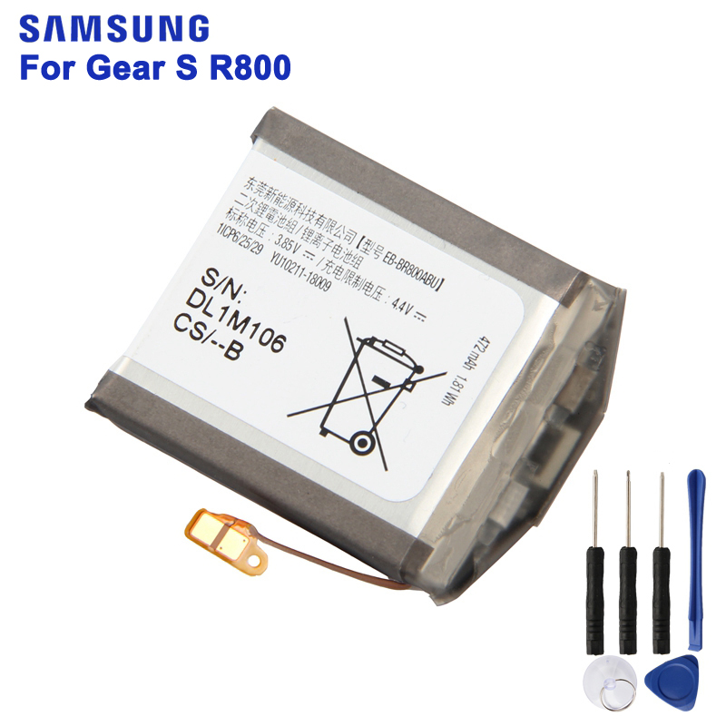 Original Replacement Battery EB-BR800ABU For Samsung Gear S4 SM-R800 SM-R810 SM-R805 SmartWatch 46mm 472mAh with ToolsOriginal Replacement Battery EB-BR800ABU For Samsung Gear S4 SM-R800 SM-R810 SM-R805 SmartWatch 46mm 472mAh with Tools