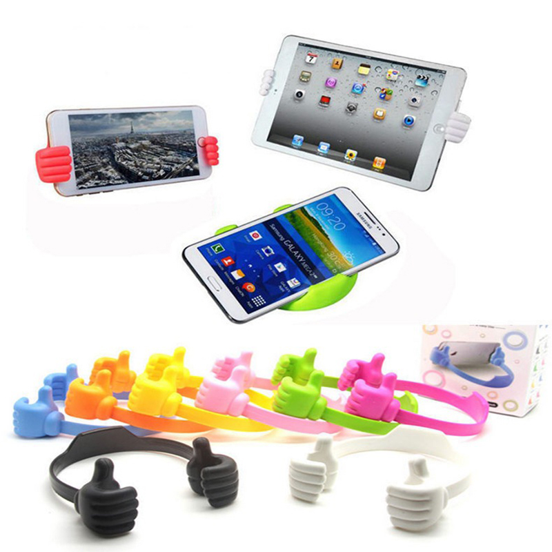 Cute Thumb Holder For iPhone/Mini iPad Big Thumb Mobile Cell Phone Tablet Accessory Mount Dest Stand Desktop Table Stents