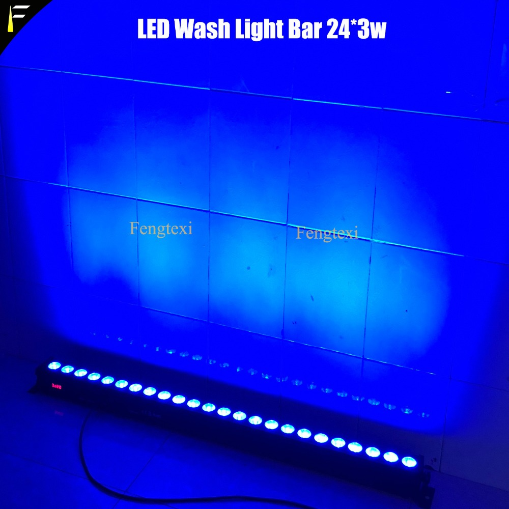 Tri LED 24x3W RGB Slim Washer Bar Floodlight Strip Pixel effects Bar For DJ Disco Wedding Party Stage Music Dance Venue Show