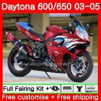 Body For Triumph Daytona 650 600 02 03 04 05 top red black Daytona600 86SH16 Daytona650 Daytona 600 2002 2003 2004 2005 Fairings