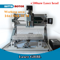 GRBL 1610 500mw GRBL Control DIY Mini CNC Machine Working Area 16x10x4 5cm 3 Axis Pcb