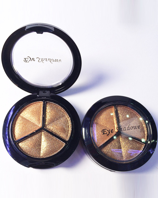 LEARNEVER Smoky Cosmetic Set 3Colors Professional Natural Matte Eyeshadow Makeup EyeShadow Palette Nude Eye Shadow Glitter