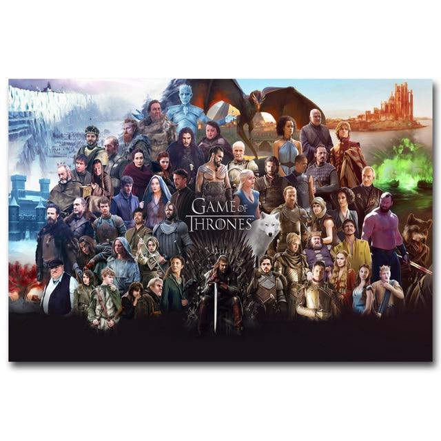 Плакат гобелен Игра престолов Все персонажи