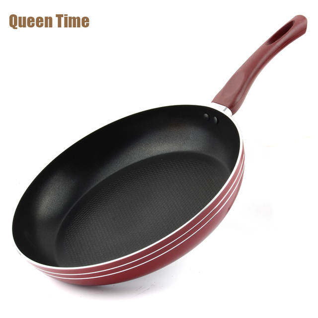 Queentime 12 Aluminum Frying Pan Gas Induction Cooker With Handle Non Stick Grill Pans