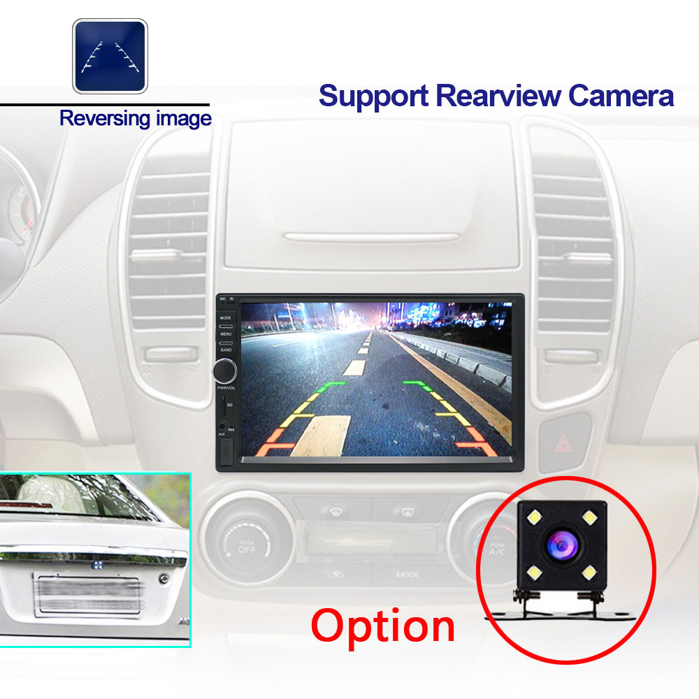 Podofo 7 ''Android Autoradio stéréo GPS Navigation Bluetooth USB SD 2 Din tactile voiture lecteur multimédia lecteur Audio Autoradio - 4