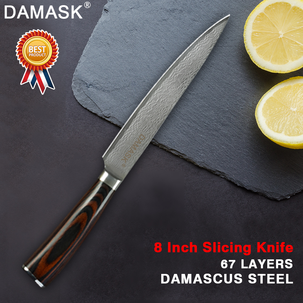 Damask Fruit Utility Chopping Santoku Slicing Chef Kitchen Knife Professional Japanese Damascus Steel Chef Knives High Grade in Kitchen Knives from Home Garden