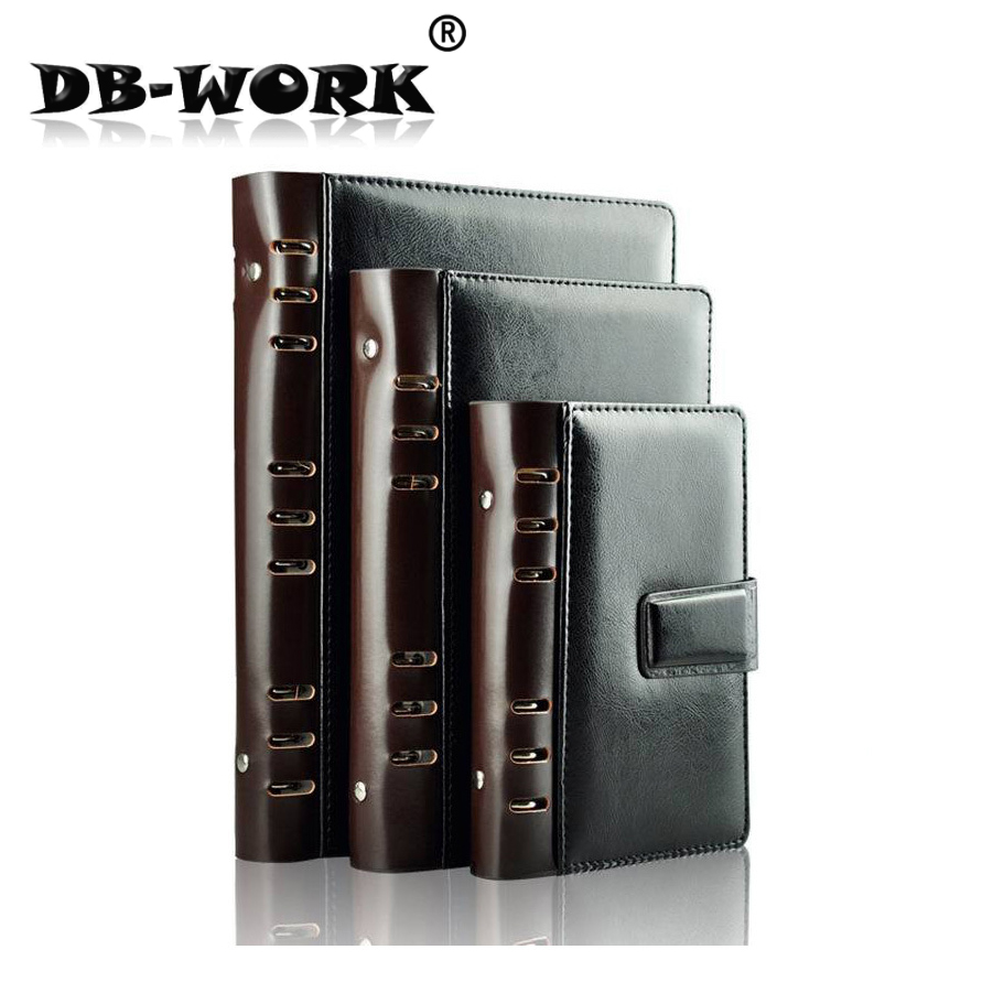 31b35ac4 2018 Business Notebook papelería de cuero costura de cuero calidad clásica  hoja suelta Notebook personalización
