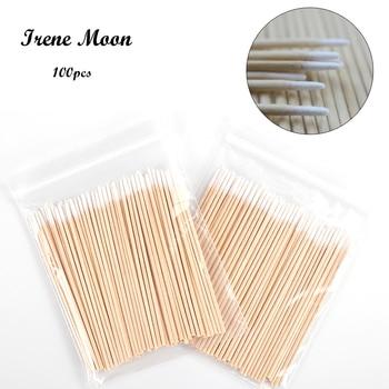 100pcs Wood Cotton Swab Cosmetics Permanent Makeup Microblading Cotton Tips Cleaning Cotton Sticks Buds Tip 7cm cotonete