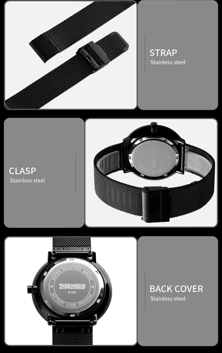 SKMEI Fashion Men Quartz Watch Children Digital Watch Big Dial Waterproof Parent-child Watches relogio masculino 9185 1455 Set 10