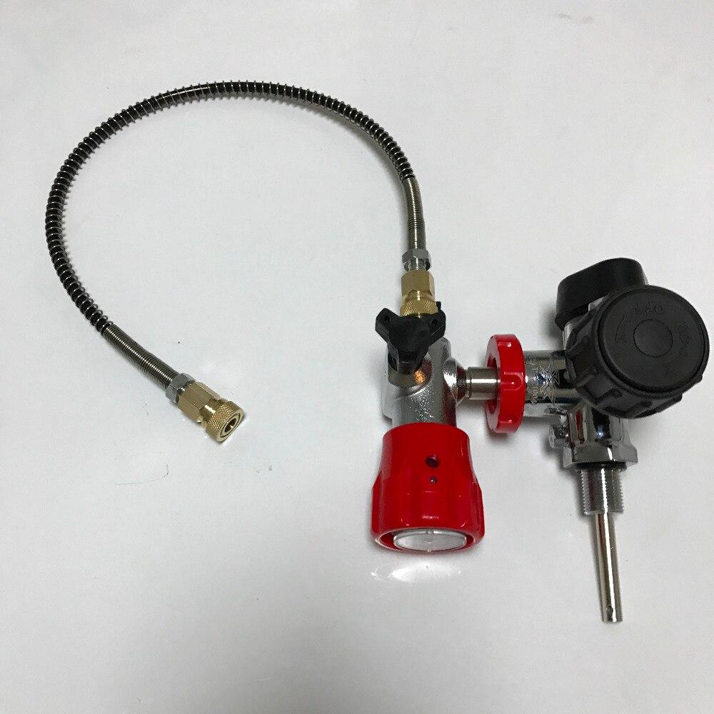 High Pressure Big Black VALVE with Gauge for Carbon Fiber Cylinder for PCP Hunting+FILLING STATION