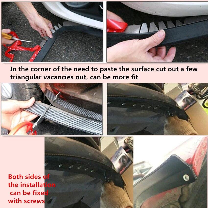 2.5 M/lèvre avant de la voiture pare-chocs Autocollant accessoires pour Peugeot 307 206 308 407 Ford Focus 2 3 Fiesta Mondeo Kuga Citroen C4 C5 C3