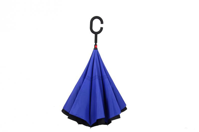 Nouveau parapluie inversé moderne à l'envers, poignée en C, double - Marchandises pour la maison - Photo 3