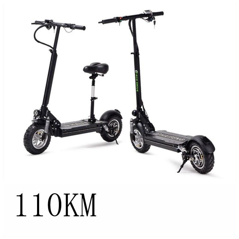 Vélo électrique 11 pouce adulte pliant portable Au Lithium huile de frein choc génération conduite scooter explosion-preuve vide pneu