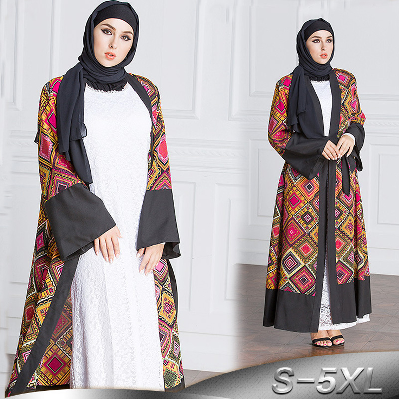 Женское длинное платье-кимоно в стиле унисекс, 5XL