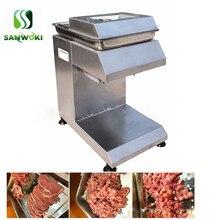 Коммерческая нарезанная машина для резки мяса высокоэффективный слайсер для свежего мяса машина нож для рыбы машина для измельчения мяса мясорубка