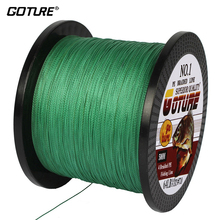 Goture PE Braided Fishing Line 500M/547Yrds Multifilament Line 4 Stands 8-80 LB Lines Fishing Rope Cord For Sea Fishing