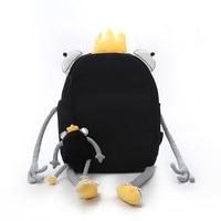 Big Frog Fun Backpack Japan And South Korea Creative Large Capacity Backpack Girl Large Capacity Shoulder Bag