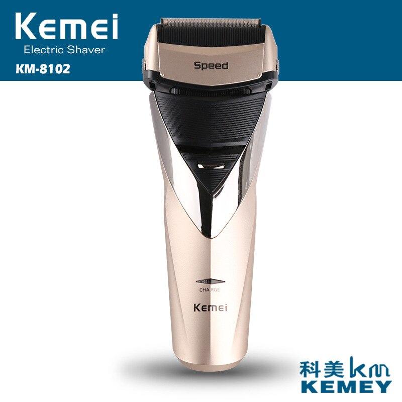 цена на Kemei 3D Floating Head Rechargeable Shaver Men Electric Shaver Triple Blades Waterproof Shaving Profession Men Face Care
