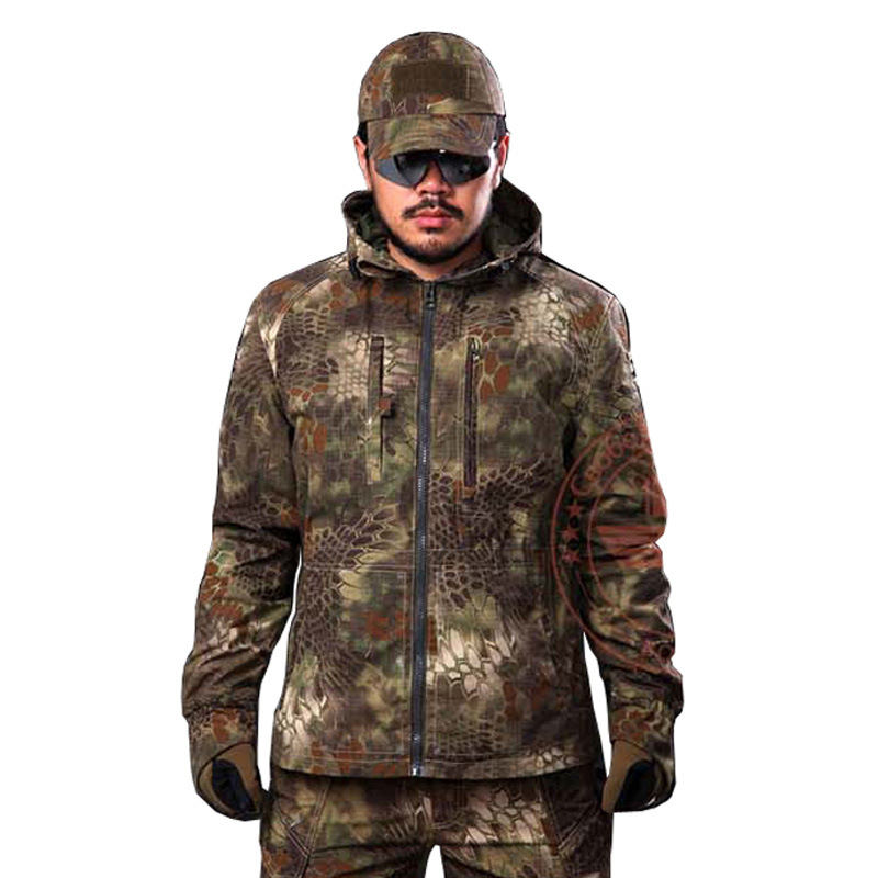 Tactical Gear Camouflage Outdoor Jacket Men Army Waterproof Warm Camo Hunting Clothes men letter print camo jacket