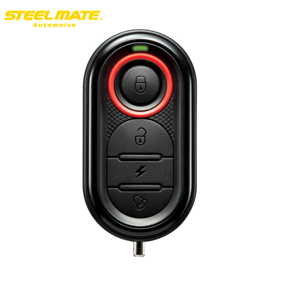 Steelmate 100% Original 986E1 Motorcycle Alarm Moto Remote Engine Start Alarm Protection with Mini Transmit steel mate