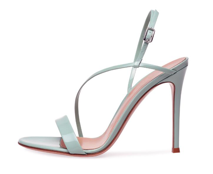 Carpaton 2018 Summer Newest ladies green black nude color peep toe buckle thin high heel sandals dinner shoes fashion shoes