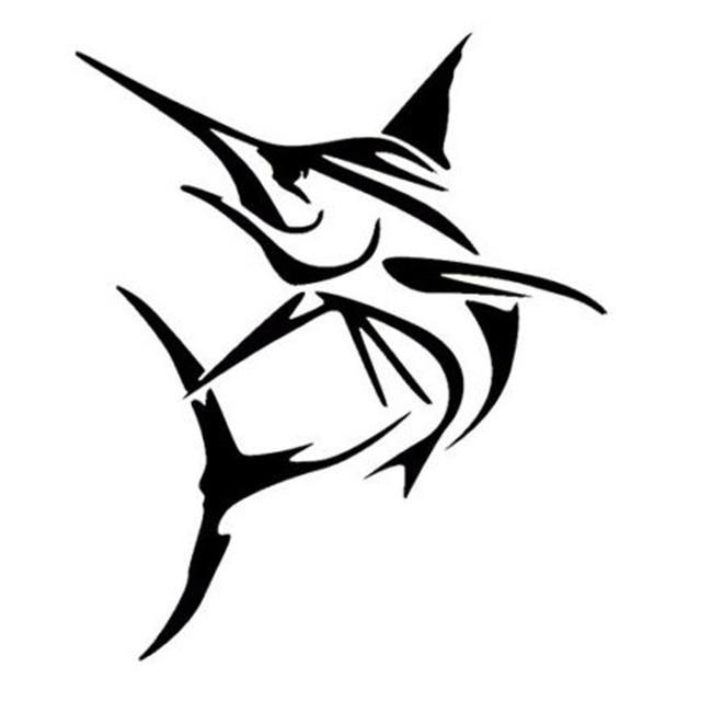 12 7 15 1cm marlin fish large swordfish decals car styling - Dessin espadon ...