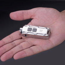 TOPSALE NITECORE USB TIPSS металлический брелок из нержавеющей стали светильник+ зажим для путешествий на открытом воздухе мини EDC перезаряжаемый светильник для ключей