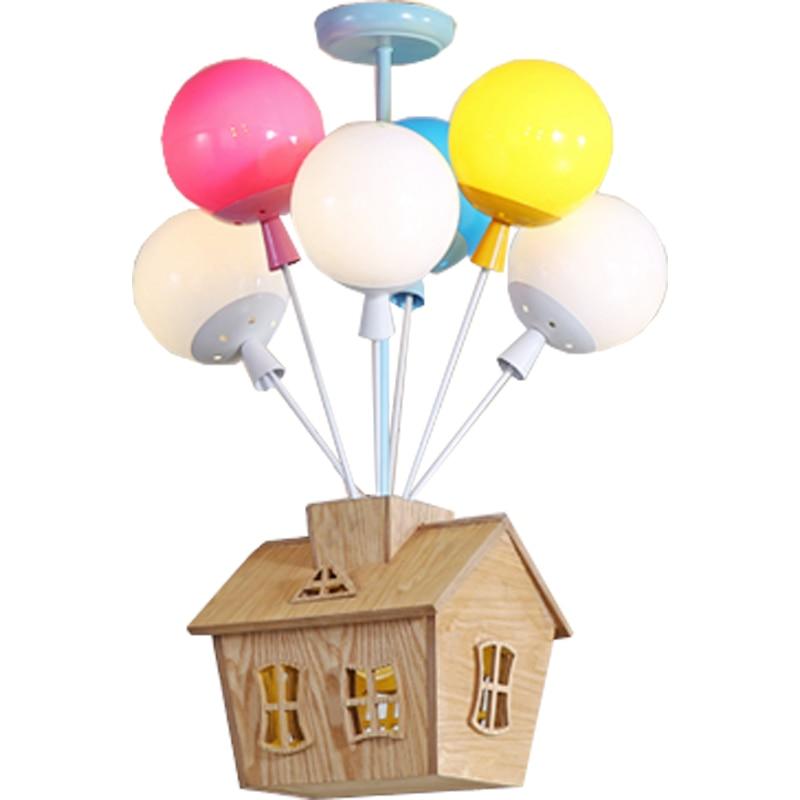 Подвеска в виде шара огни мультфильм детская комната лампа спальня мальчика девочки комната лампа детский сад скандинавский светодиодный