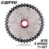 ZTTO MTB Mountain Bike 9 Speed Freewheel 11 42T Wide Ratio Cassette Sprockets Derailleur For M430