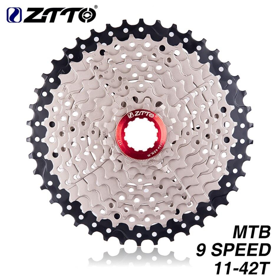ZTTO MTB Mountain Bike 9 Velocità Ruota Libera 11-42 T Ampio Rapporto Cassette Pignoni Deragliatore Per M430 Sistema M400