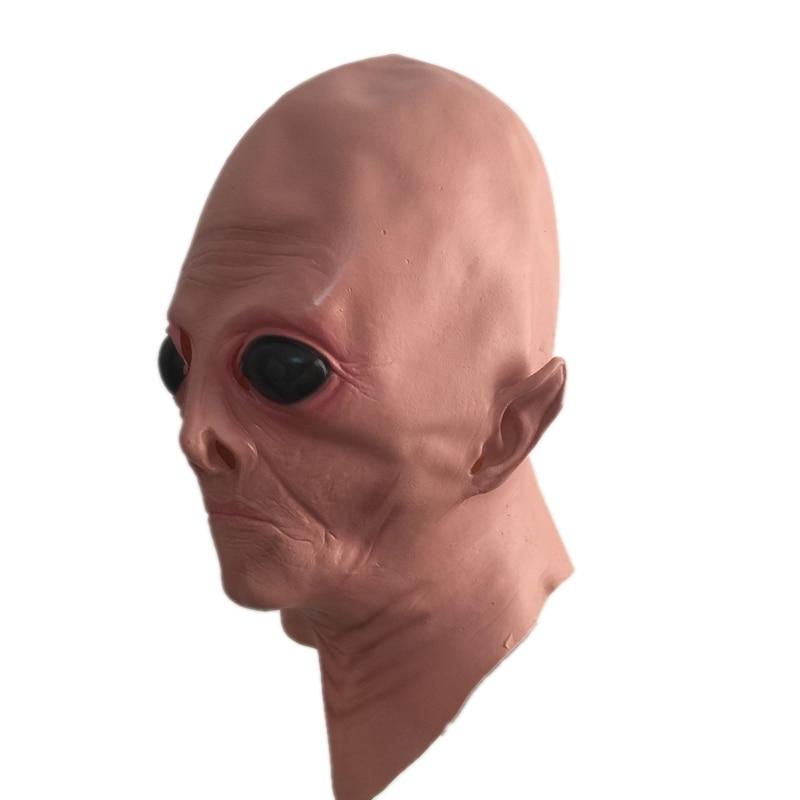 현실적인 지상 ET 라텍스 마스크 성인 UFO 외국인 전체 헤드 호러 가면 할로윈 가상 파티 파티 코스프레 의상 의상