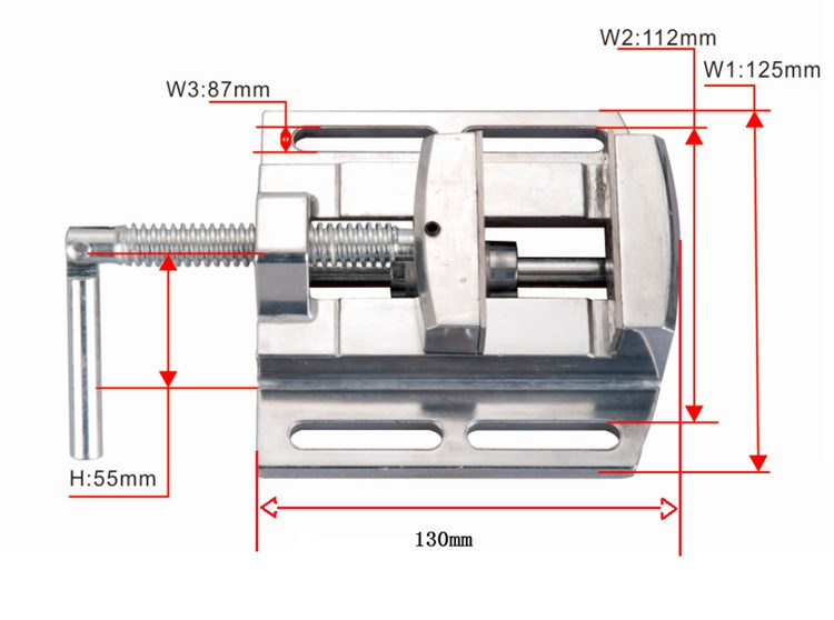 Aluminium alloy 2.5 Flat tongs Vice Milling Machine Bench drill Vise Fixture worktable Max 68mm the saem saemmul a c control bb spf30 бб крем для проблемной кожи 15 мл