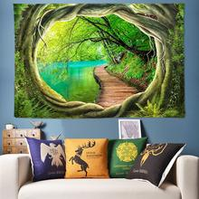 Tree Hole 3D Art Hippie Tapestry Bohemian Decor Indian Mandala Tapestry Wall Hanging Psychedelic Wall Tapestry Boho Wall Fabric wall hanging art decor sunshine tree print tapestry