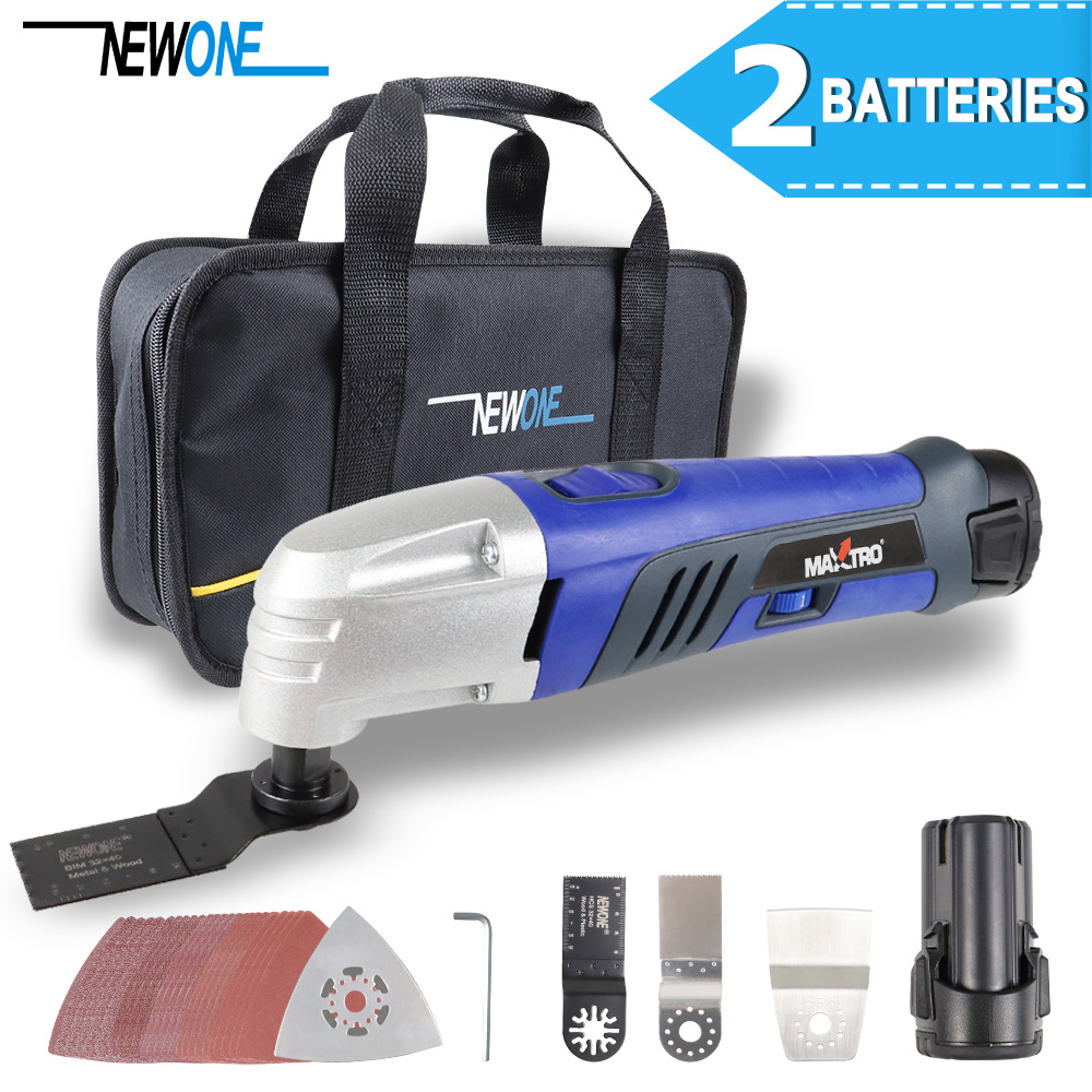12V Lithium ion Oscillating Multi Tool Renovator Tools Electric Trimmer Saw with 2 pcs of 2000mAh