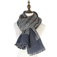 plaid cashmere scarf thick warm echarpes winter scarves women shawl capes gifts soft ladies shawls stoles