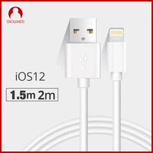 Snowkids 1.5m 2m USB Cable Charger 2 Pieces for iPhone X 8 7 6 5 XR XsMax for Lightning to USB Fast Charge Upto iOS12