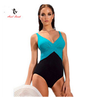 2016 One Piece Swimsuit Brazilian Bikini Set Sexy Tankini Set Beachwear Plus Size Swimwear Women Black