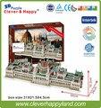 2014 новый умный и счастливую землю 3d модель головоломка Здание Венгерского Парламента ручной взрослых головоломка diy модель для мальчика бумаги