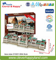 2014 new clever&happy land 3d puzzle model   Hungarian Parliament Building   handmade adult puzzle diy model for boy paper
