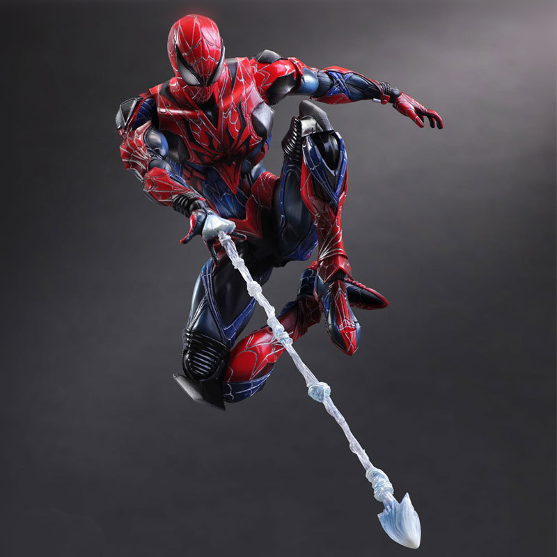 Variant PlayArts Kai Spiderman Superheros The Amazing Spider-man PVC Action Figure Collectible Model Kids Toys Doll 28cm playarts kai batman arkham knight batman blue limited ver brinquedos pvc action figure collectible model doll kids toys 28cm
