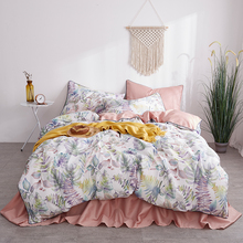 New Luxury Tropical 3D Printing 60S Egyptian Cotton Bedding Set Queen Size Duvet Cover Bed sheet Linen Pillowcases 4pcs