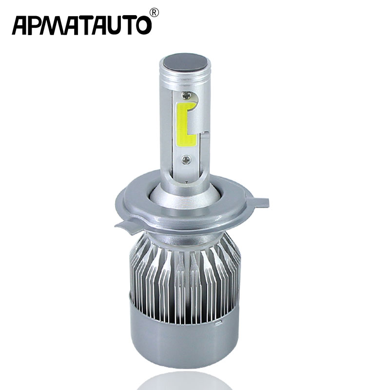 1 piece H4 HS1 9003 HB2 H7 Auto Car Motorcycle Led Headlight 12-24V 4800LM Light For Toyota Honda Nissan BMW Mazd Yamaha Suzuki