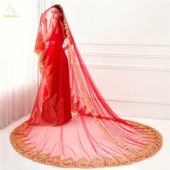 2019 New High Quality Brand New White Ivory Wedding Veils Veu De Noiva Lace Appliques Wedding Veils Mariage Bridal Veil QA1356