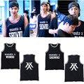 Hpeiypei MONSTA X Mini Álbum de 3 Camisas K-POP KPOP Beisebol Casuais Colete Roupas de Algodão Camiseta T Tops Camisa Sem Mangas T-shirt